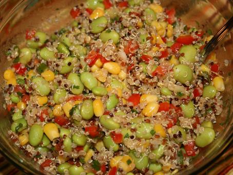 Edamame Salad with Corn and Quinoa