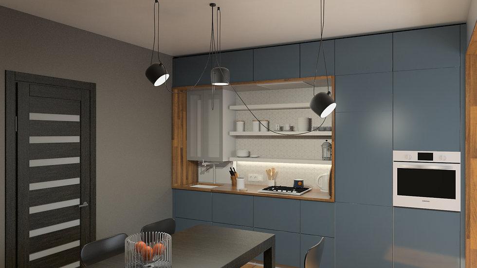 проект дизайн интерьера калининград дизайнер архитектор квартира дом ремонт строительство стройка кухня archduet.com
