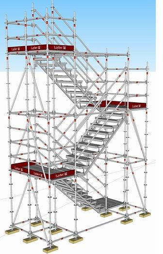 escalier de chantier, layher