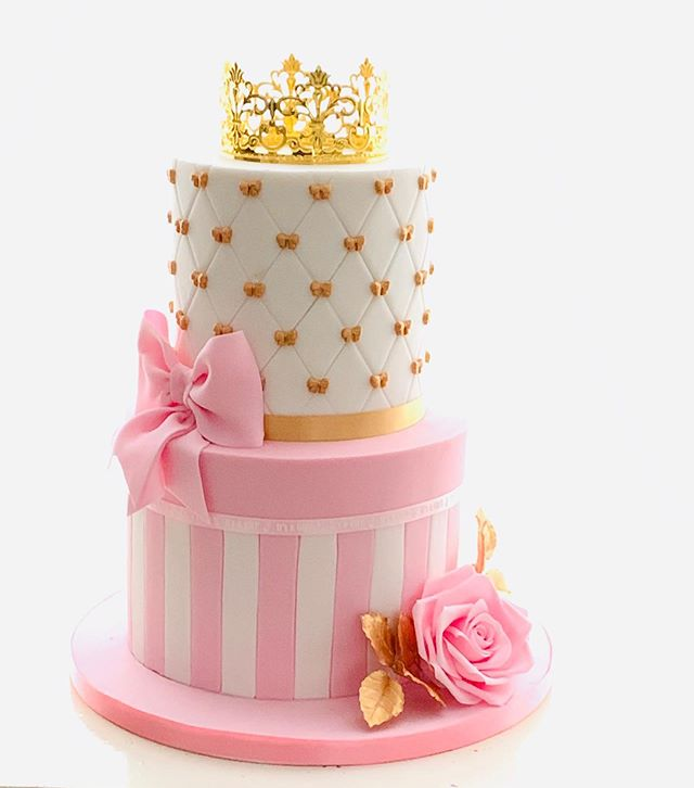 girls baby shower cake