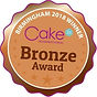 bronze international cake winner award