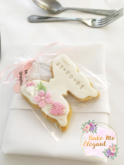butterfly wedding favour cookie
