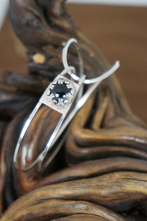 Sterling Silver Black Onyx Bracelet
