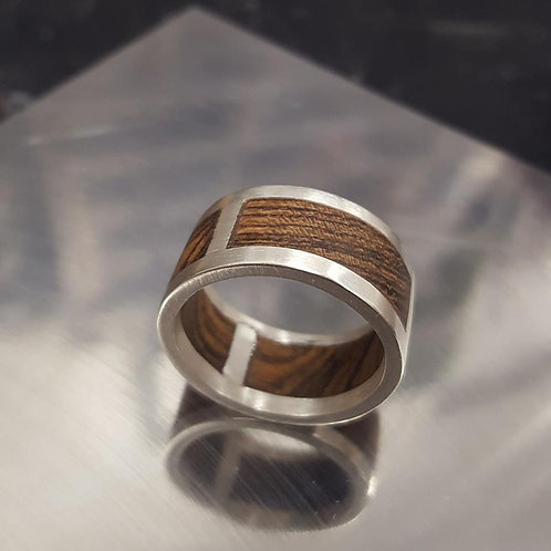 Cocobolo Sterling Ring