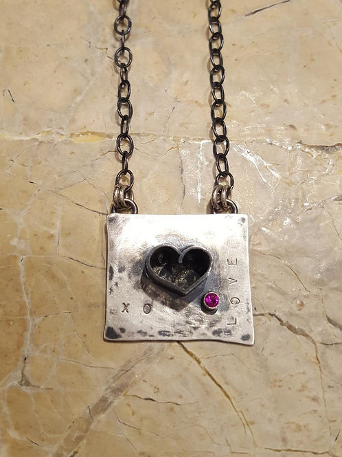 Oxidized Love Necklace