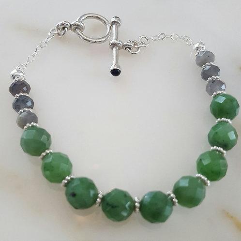 Jade & Labradorite Bracelet