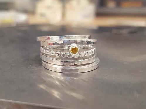 November Birthstone Ring