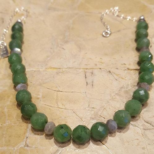 Jade & Labradorite Necklace