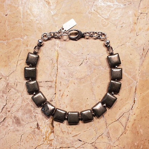 Pyrite Bracelet with Lobster Clasp