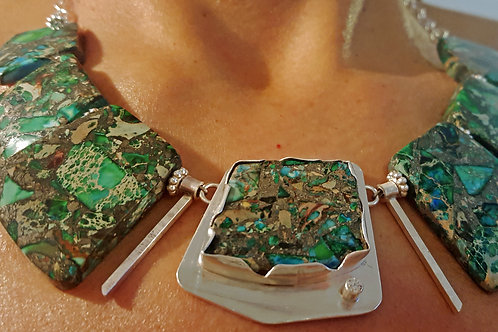 Malachite & Pyrite Necklace