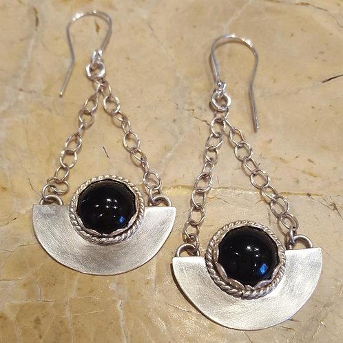 Black Onyx Sphere Earrings