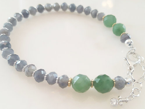 Labradorite & Jade Bracelet