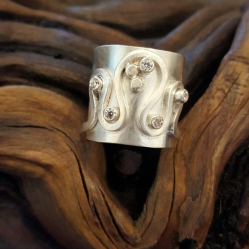 Sterling Wide Band Ring