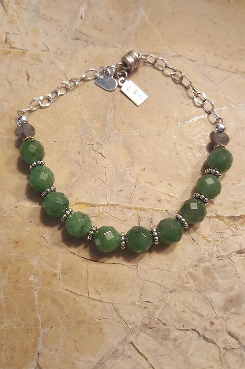 Faceted Jade Bracelet