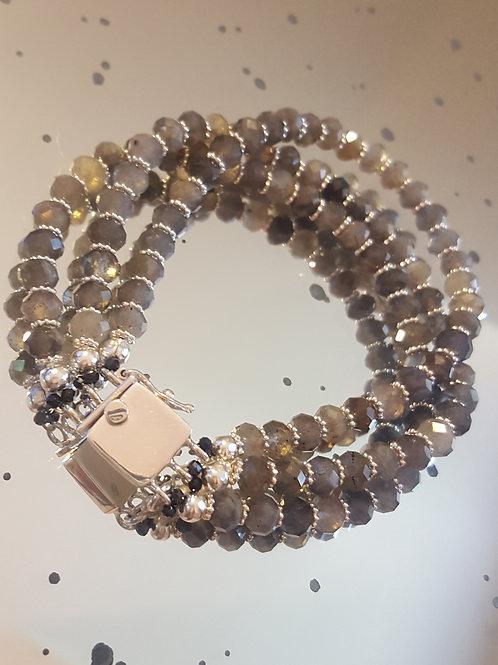 3 Strand Labradorite Bracelet