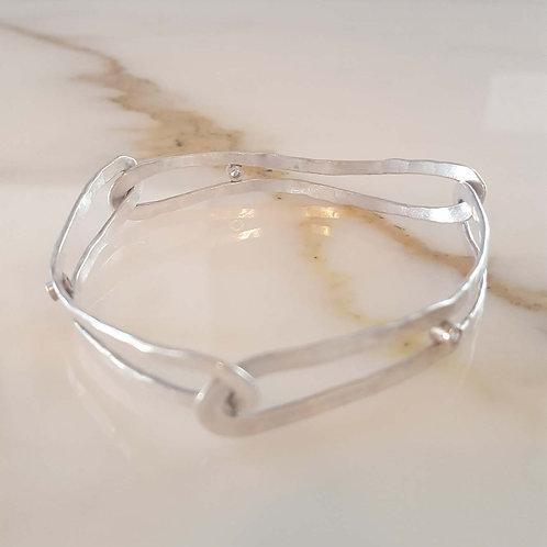 Interlaced Sterling Bracelet