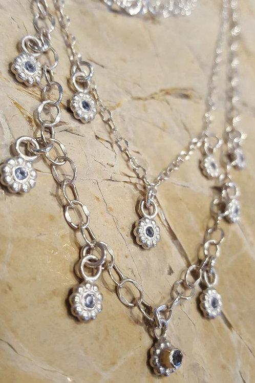Aquamarine Cascade Necklace