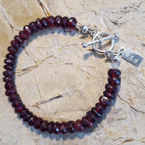 Faceted Rhodolite Bracelet