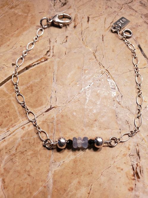 Sapphire & Black Spinel Bracelet