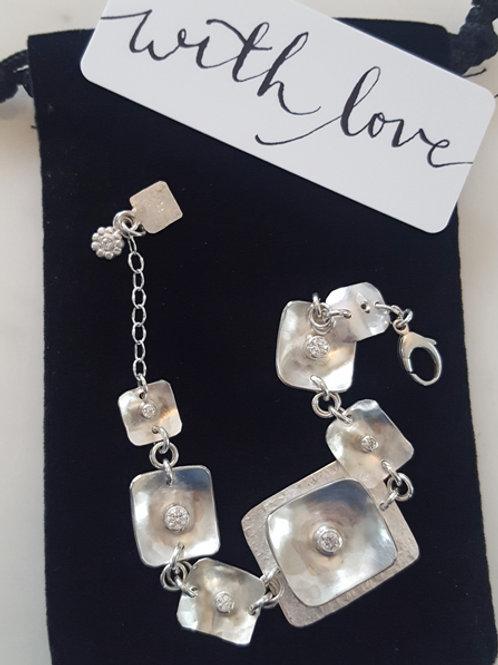 """Sterling Silver """"Squares"""" Bracelet"""