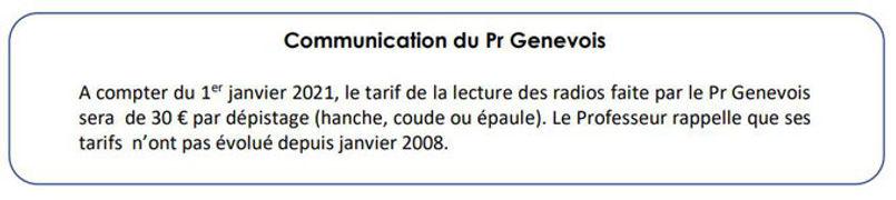 Communication du Pr Genevois