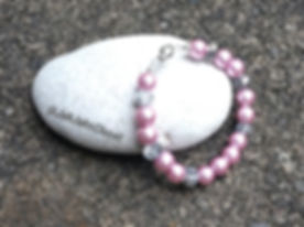 Childrens Pink Pearl Magnetic Clasp