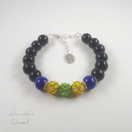 Sparkle Ball Clasp Bracelet - Green/Yellow | Jah-Jah's Closet