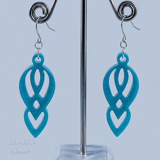 Resin 'Chandelier' Drop Earrings - Silk Blue