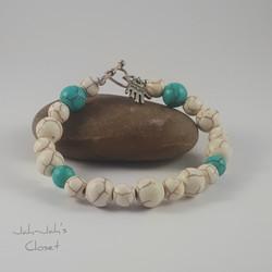 "Turquoise Semi-Precious Stone - 7.5"""