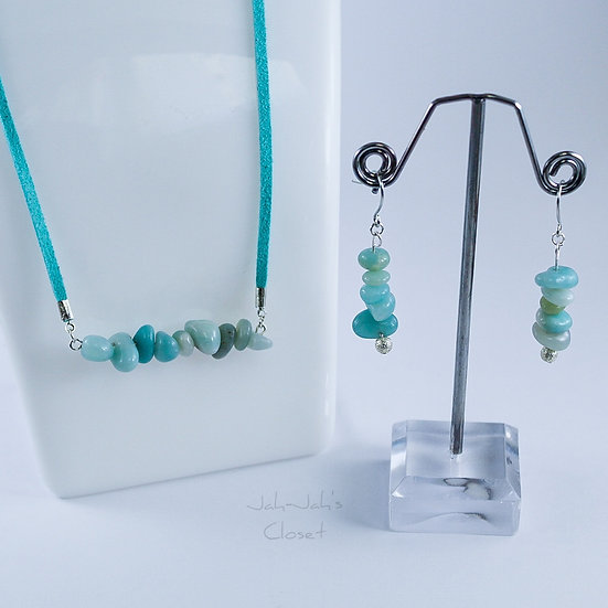 Healing Jewellery Set - Chinese Amazonite