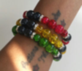 3-Strand Crackle Bead Bracelet