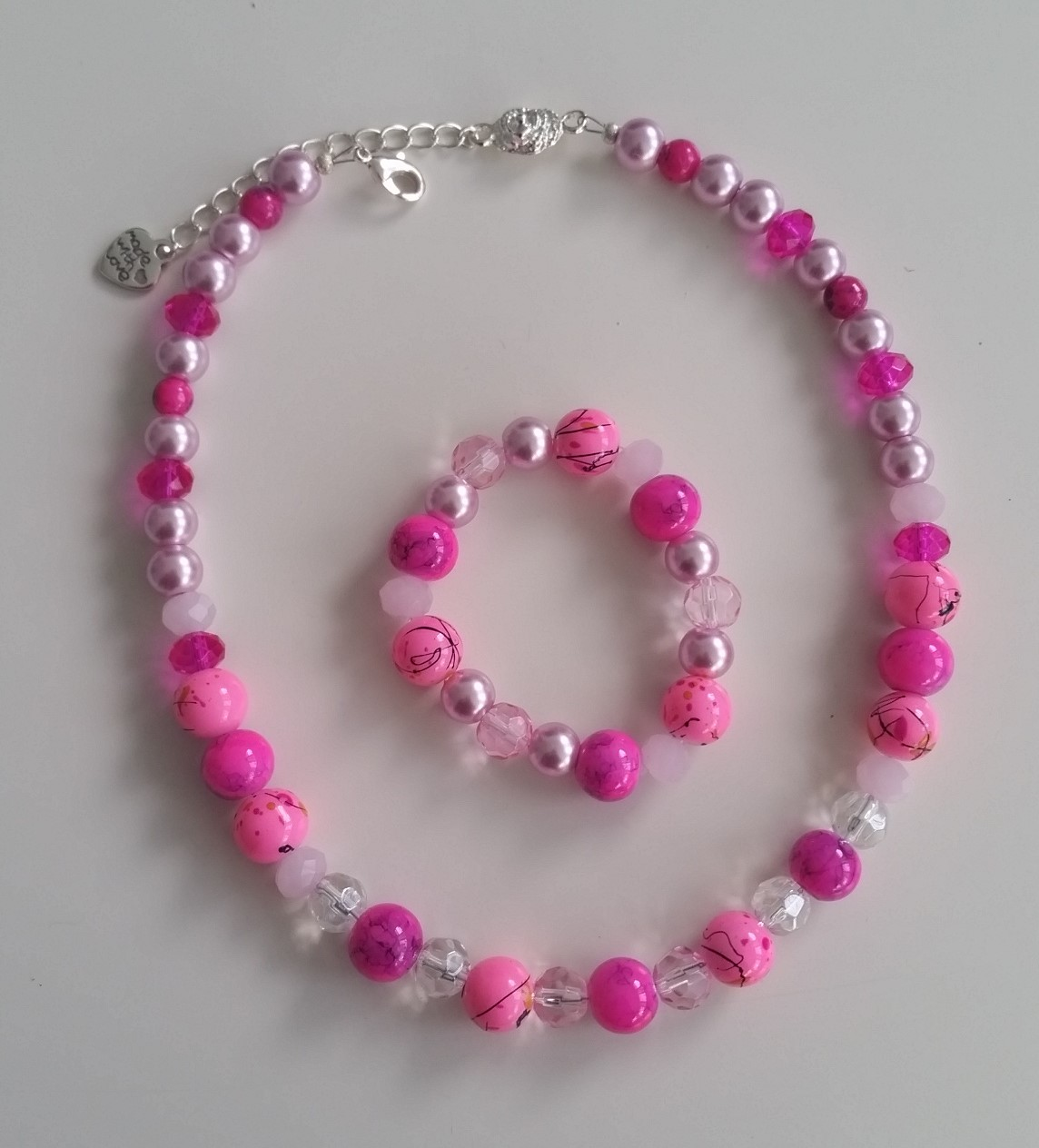 Childrens Custom Pink Jewellery Set