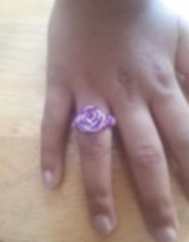 Custom Purple & Lilac Aluminium Wire Flo
