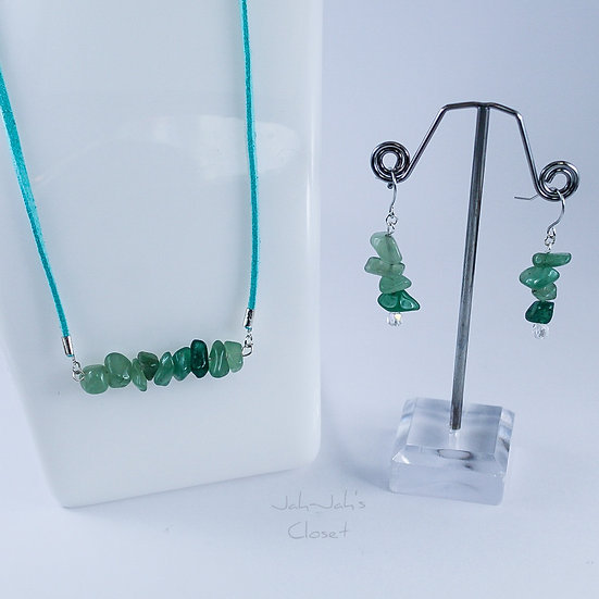 Healing Jewellery Set - Green Aventurine