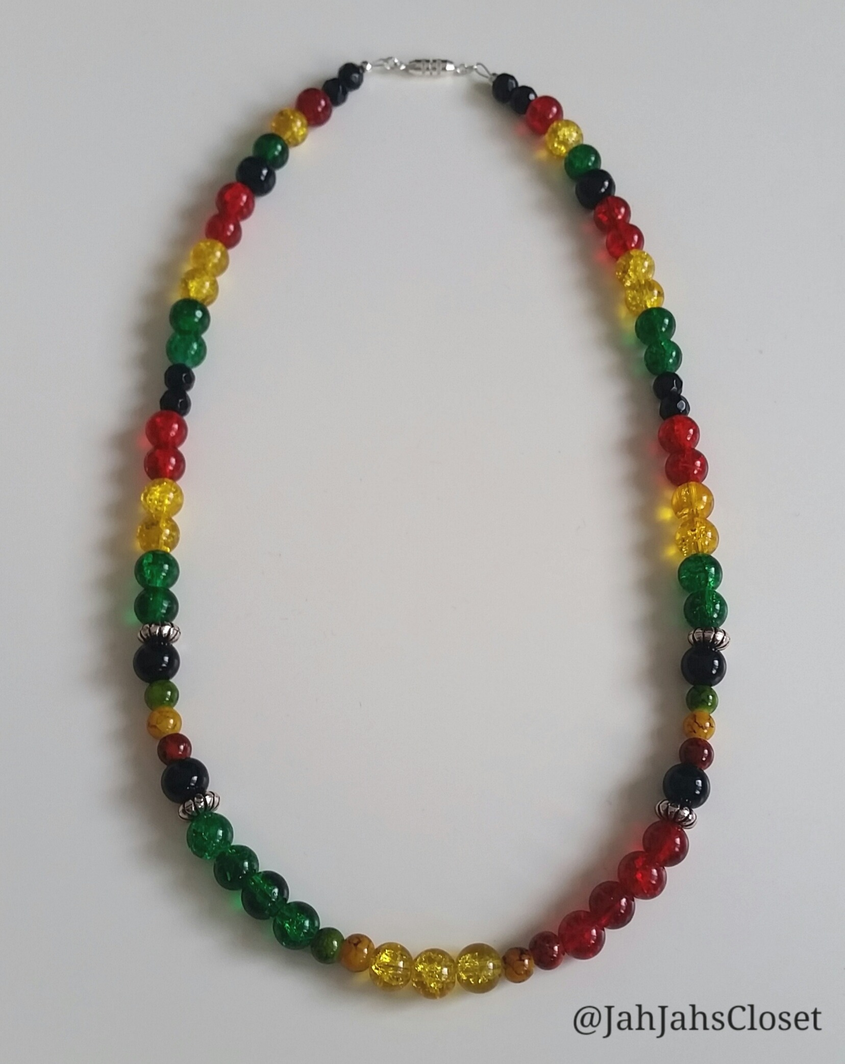 Custom Red, Green & Yellow Necklace
