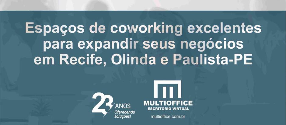 Espaços de coworking excelentes para expandir seus negócios em Recife, Olinda e Paulista-PE