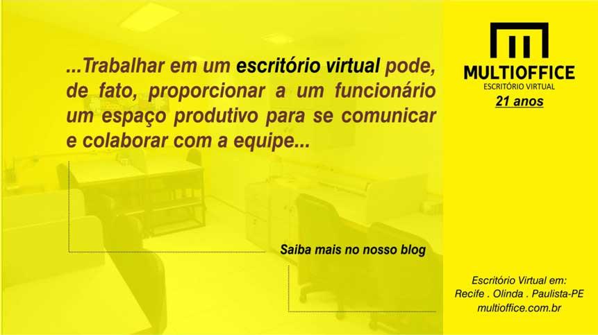 Trabalhar em um escritório virtual pode, de fato, proporcionar a um funcionário um espaço produtivo para se comunicar e colaborar com a equipe... Saiba Mais Aqui!