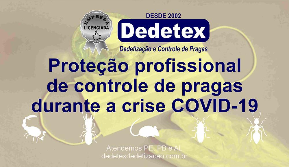 Proteção profissional de controle de pragas durante a crise COVID-19