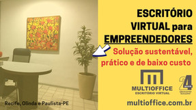 Escritório Virtual para empreendedores é uma solução sustentável, prático e de baixo custo