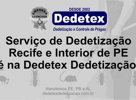 Serviço de Dedetização Recife e Interior de PE é na Dedetex Dedetização