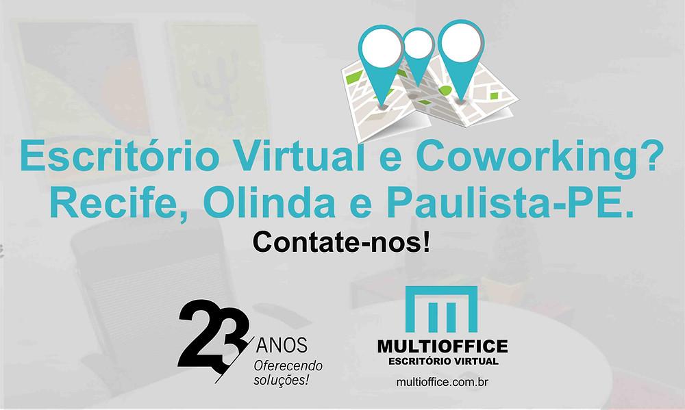 Escritório Virtual e Coworking? O Multioffice Tem: Recife, Olinda e Paulista-PE. Contate-nos!