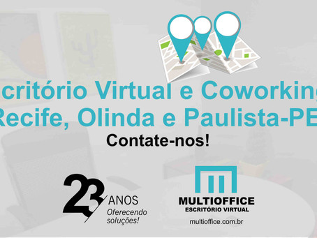 Multioffice Escritório Virtual e Coworking. Recife, Olinda e Paulista-PE