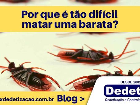 Por que é tão difícil matar uma barata?