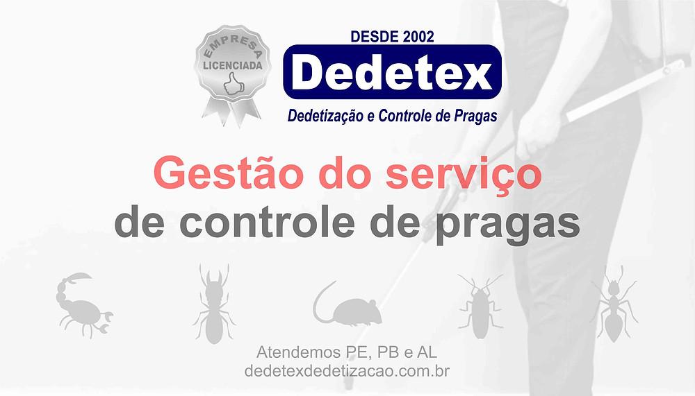Gestão do serviço de controle de pragas