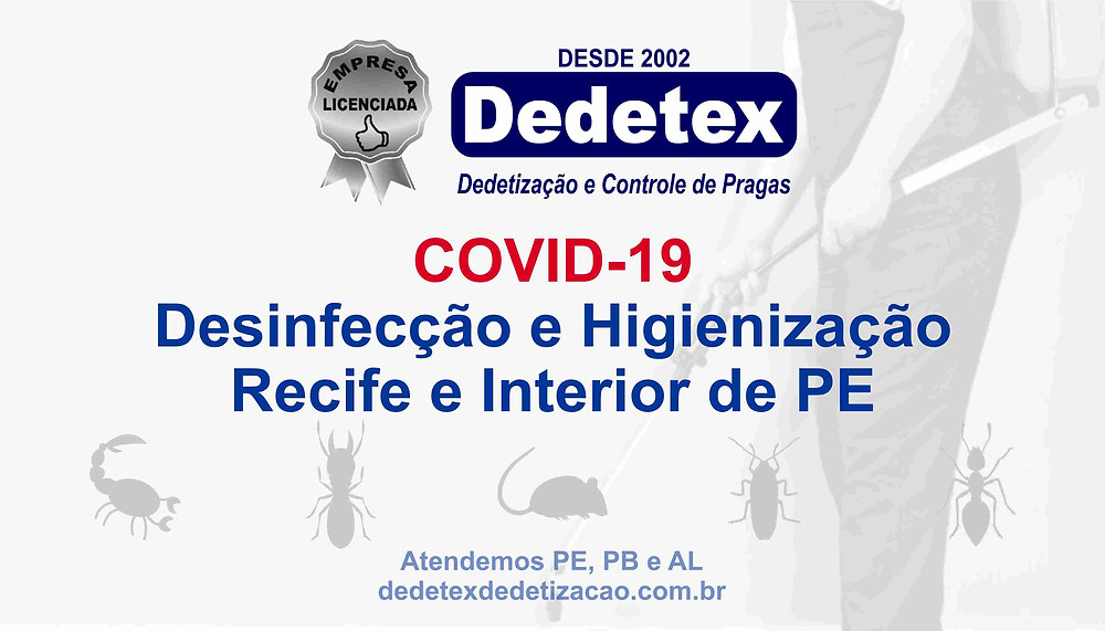 COVID-19. Serviço de Desinfecção e Higienização em Recife e Interior de PE