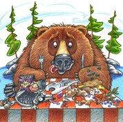 Bears Aren't Dirty, Pigs Aren't Slow book illustration
