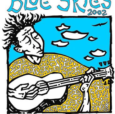 Blue Skies Music Festival 2002 design