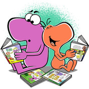Fred and Ed books promotional illustration