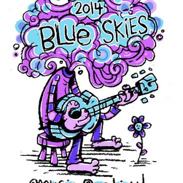 Blue Skies Music Festival concept art