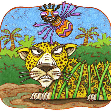Anansi book illustration